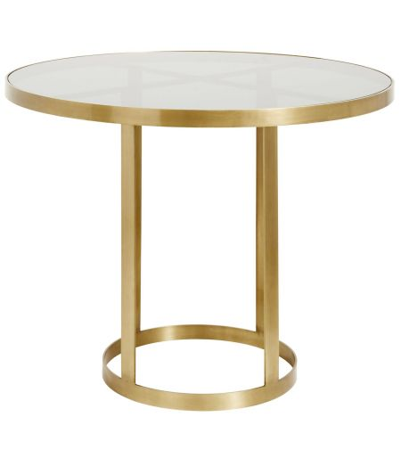 Round Table golden glass Nordal