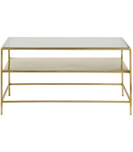 Low Table with a DECADENT, gold-tone metal / black Nordal