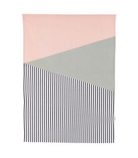 Pink graphic gray cloth and House Doctor