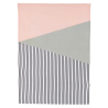 Pink and gray graphic Torchon HOUSE DOCTOR
