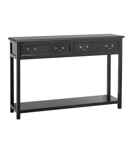 Console with 2 drawers, black Nordal