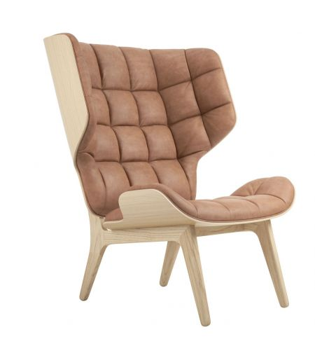 Fauteuil Mammoth cuir vintage camel Norr11