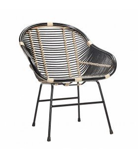 Chair w arm rest rattan kind 65x66xh77cm Hubsch