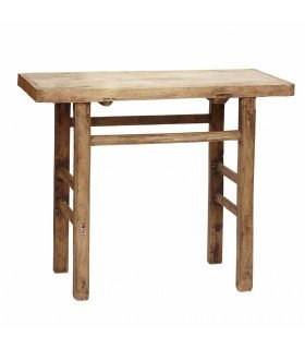 Console table elm wood off 180-200x35xh60-82cm Hubsch