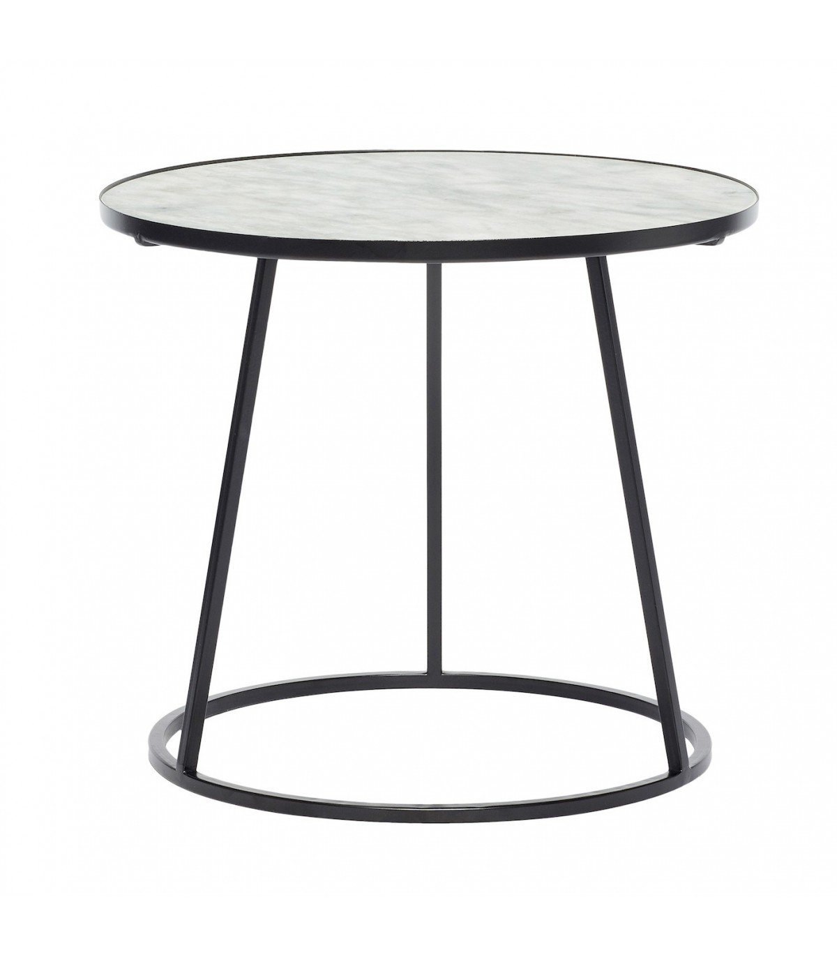Metal coffee table black and white marble hbsch Black and white coffee table