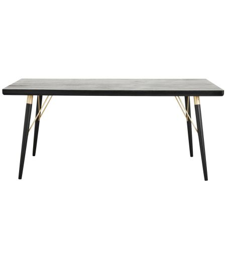 Dining room Table in black wood Nordal