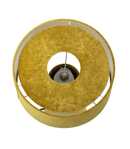 Lamp golden metal and fabric