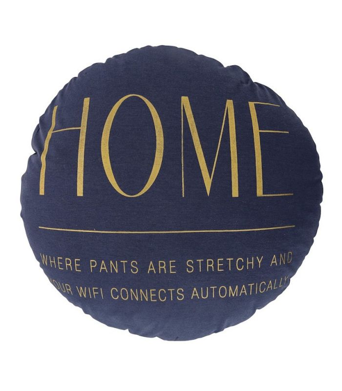 Home cushion navy blue and gold Bloomingville