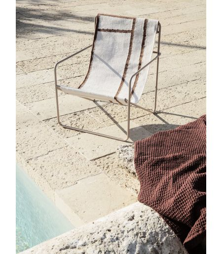 chair outside swimming pool, garden