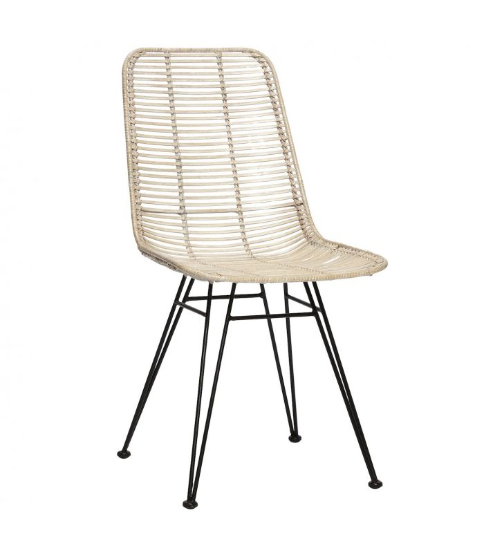 Chaise blanche rotin studio h bsch for Chaise blanche rotin