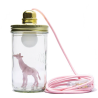 Light pink giraffe baby head in the jar
