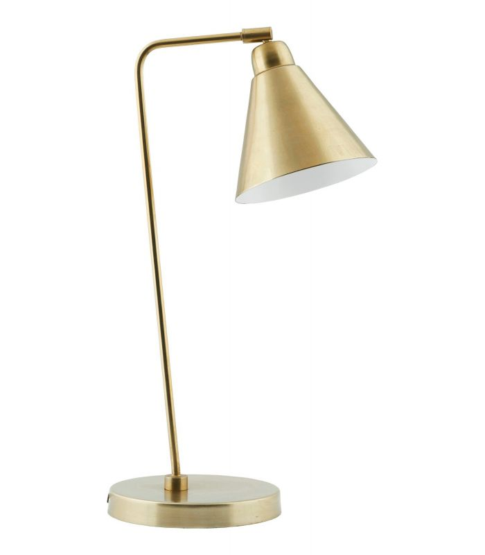 White metal and brass lamp House Doctor