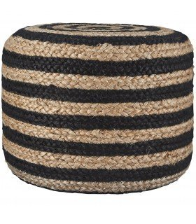 Pouf en cuir marron House Doctor