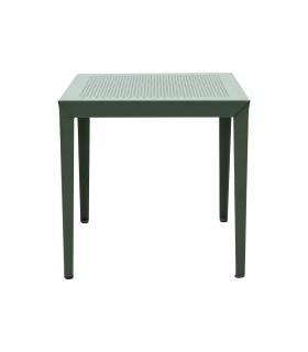 Metal coffee table and green marble House Doctor