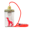 Neon pink giraffe lamp The head in the jar