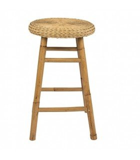 Jeny stool High oak & white Broste Copenhagen