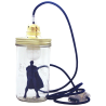 Superman navy blue lamp The head in the jar