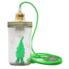 The neon green dwarf lamp head in the jar