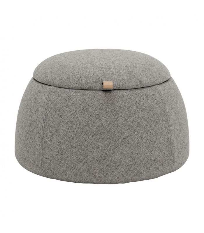 Frenchrosa - Pouf rock gris clair Bloomingville