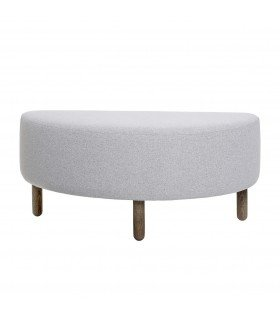 Pouf Chubby gris clair Bloomingville