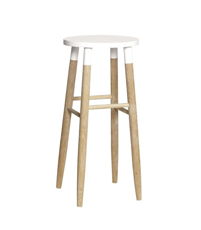 Bar stool oak nature ø35xh72cm Hubsch
