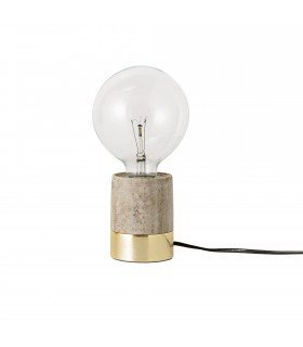 Frenchrosa - Lampe marbre&laiton Bloomingville