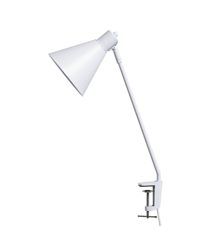 Frenchrosa - Lampe blanche serre-table Bloomingville