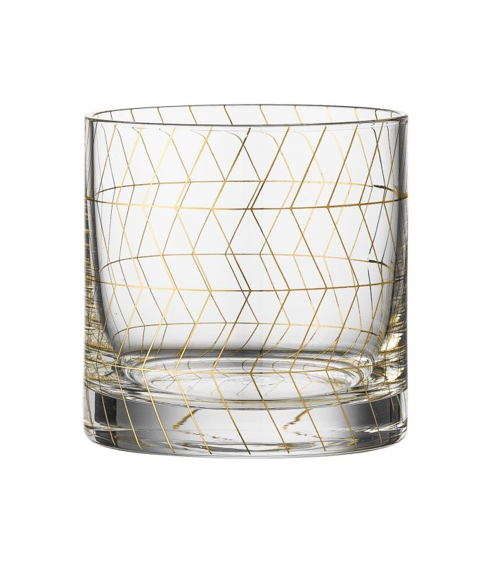 Frenchrosa - Verre Gold Geometrical Bloomingville
