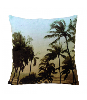 Coussin Palms noir et blanc