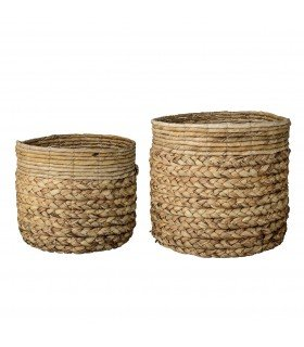Paniers raphia naturel (set de 2)