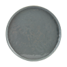 Solid gray plates (set of 6)