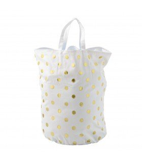 Laundry bag blanc et or