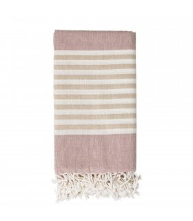 Serviette Hammam rose Bloomingville
