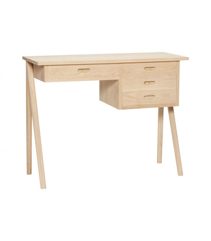Desk w compartments oak nature 110x57xh78cm Hubsch
