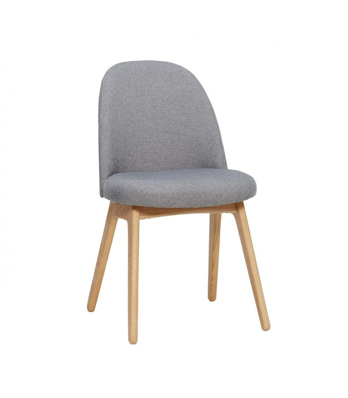 Chair w/wooden legs blue 48x48xh86cm Hubsch