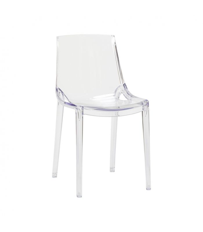 Chaise plastique transparente