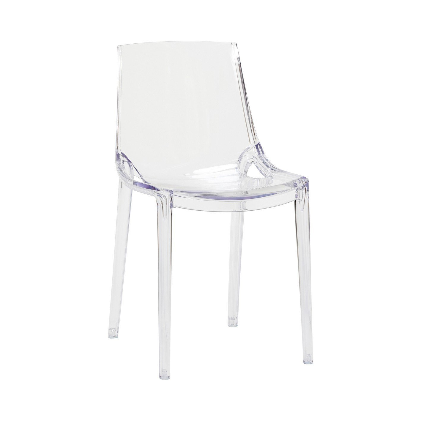 Chaises en plastique transparent for Chaise en verre transparente