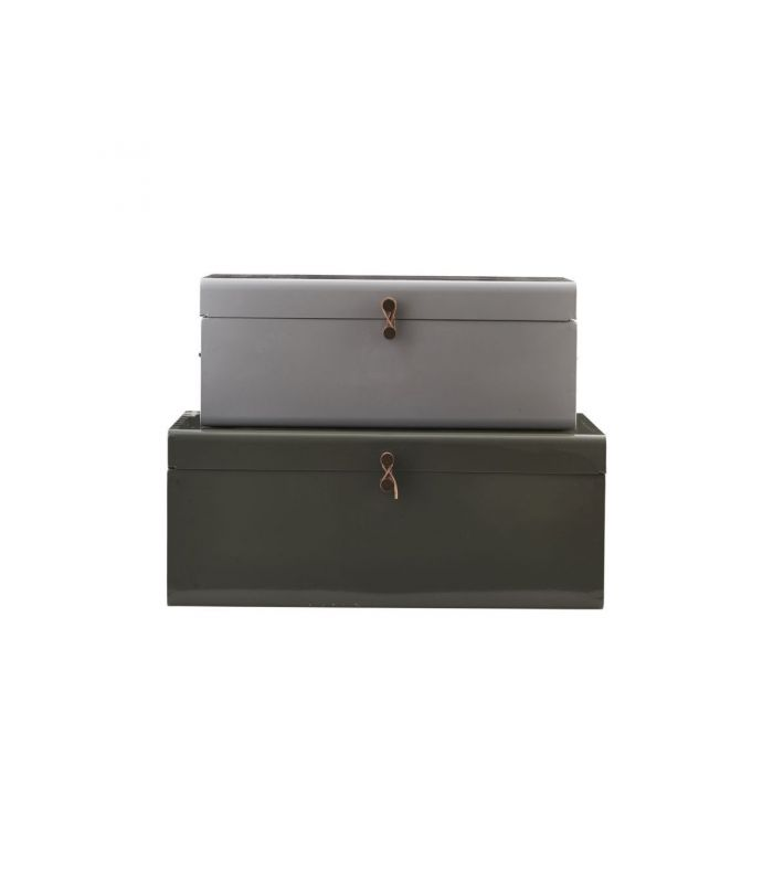 Valises grise et kakiHouse Doctor (set de 2)