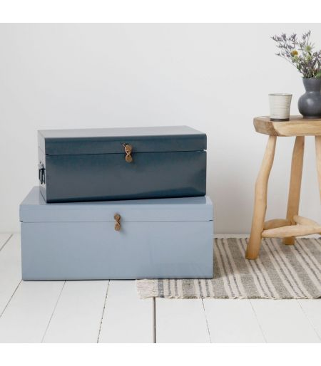 Suitcases mint and gray (set of 2)