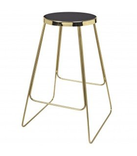 Black bar stool Jemy BROSTE COPENHAGEN