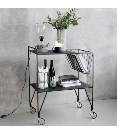 Galvanized steel trolley small model HOUSE DOCTOR