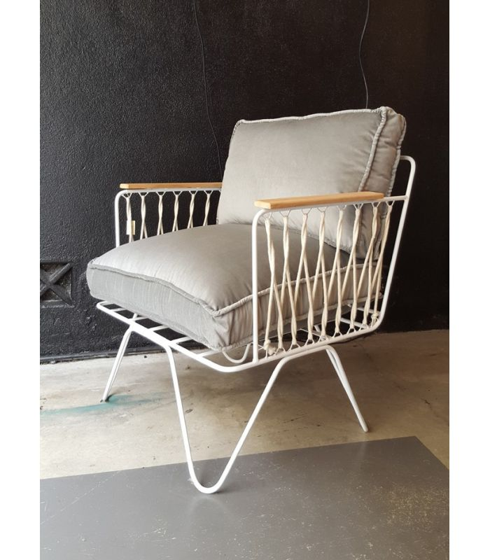 White Armchair Croisette Honor