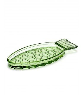 Plat Fish & Fish vert transparent Paola Navone by Serax