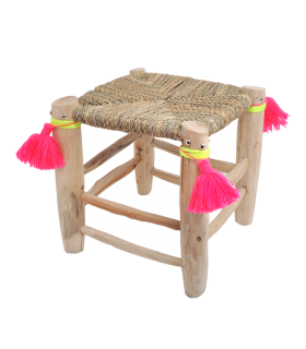 Tabouret Folk Ecru Rose In April