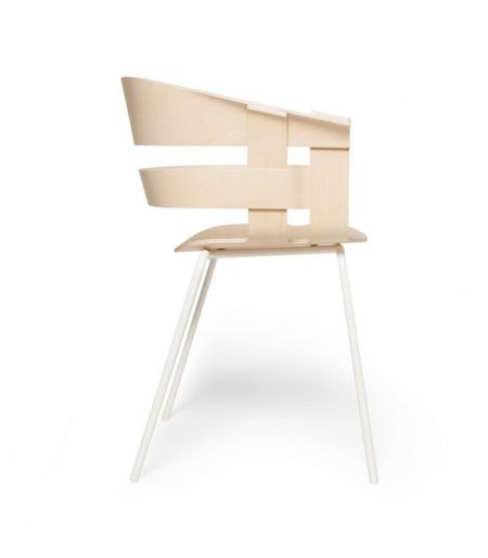 Chaise Wick métal & bois Design House Stockholm