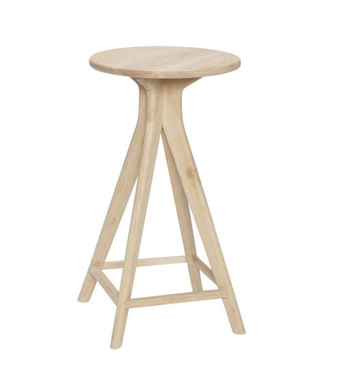 Bar stool in natural oak Hbsch