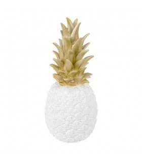 Lampe ananas Goodnight light blanc et or