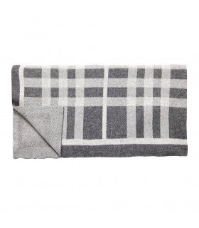 Plaid graphic lambswool gray amp black Hubsch