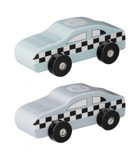 Lot de 2 voitures de course Bloomingville mini