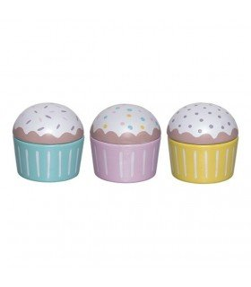 Lot de 3 cupcakes en bois Bloomingville mini